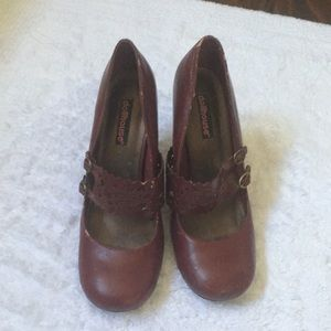 Dollhouse Shoes - Red Strap Size 9 heels
